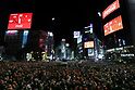 New Year countdown at Shibuya Crossing
