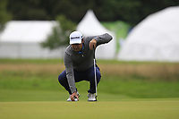 Simon Khan (ENG) on the 10th green during Round 2 of the Bridgestone Challenge 2017 at the Luton Hoo Hotel Golf &amp; Spa, Luton, Bedfordshire, England. 08/09/2017<br /> Picture: Golffile | Thos Caffrey<br /> <br /> <br /> All photo usage must carry mandatory copyright credit     (&copy; Golffile | Thos Caffrey)