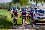 National Team Azerbaijan with: Enver ASANOV, Ismayil ILYASOV, Elvin NAGHIYEV, Stage 2: Team Time Trial, 62th Olympia's Tour, Netterden, The Netherlands, 13th May 2014, Photo by Thomas van Bracht / Peloton Photos