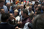 Vox`s leader Santiago Abascal with party supporters. October 13,2019. (ALTERPHOTOS/IVAN TOME)