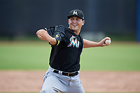GCL Marlins relief pitcher Karl Craigie (34) delivers a pitch during a game against the GCL Astros on August 5, 2018 at FITTEAM Ballpark of the Palm Beaches in West Palm Beach, Florida.  GCL Astros defeated GCL Marlins 2-1.  (Mike Janes/Four Seam Images)