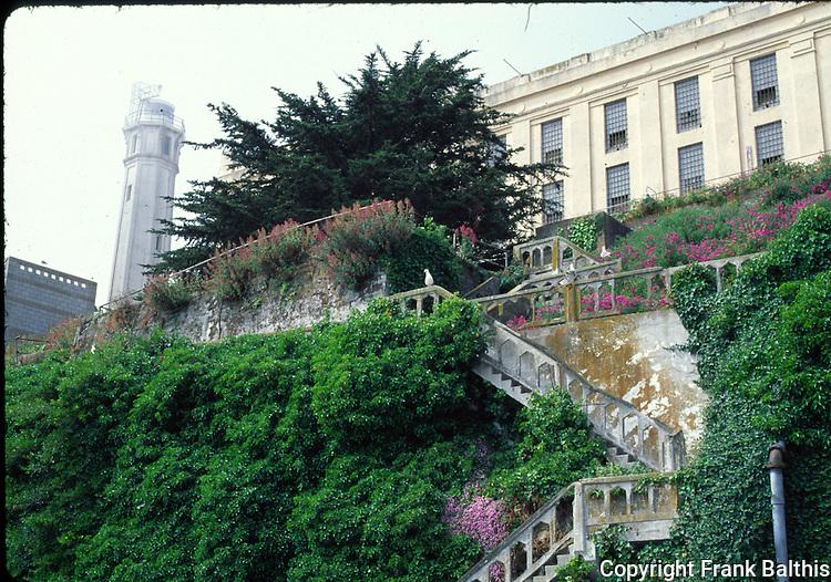 Alcatraz Island stairway