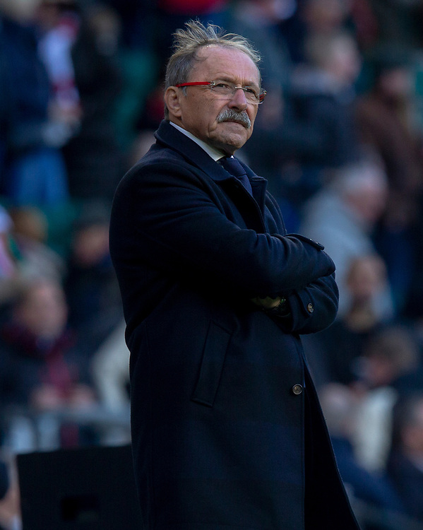 France's Head Coach Jacques Brunel<br /> <br /> Photographer Bob Bradford/CameraSport<br /> <br /> Guinness Six Nations Championship - England v France - Sunday 10th February 2019 - Twickenham Stadium - London<br /> <br /> World Copyright © 2019 CameraSport. All rights reserved. 43 Linden Ave. Countesthorpe. Leicester. England. LE8 5PG - Tel: +44 (0) 116 277 4147 - admin@camerasport.com - www.camerasport.com