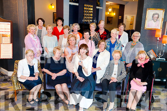 Incoming Killarney Soroptimist President Emer Moynihan, receives the chain of office from outgoing President Clair Bowler at The Gleneagle Hotel, Killarney on Tuesday night. Seated from left are Noeleen O'Sullivan, Eileen Foley, Clair Bowler, Emer Moynihan, Teresa Irwin, Ann O'Connor and Peggy Reichert. Standing from left are Noreen Browne, Margaret Scally, Frankie McMahon, Josephine Doncel, Bridie Brosnan, Mona Looney, Catherine McMullin, Catherine Gleeson, Kathleen Keane, Anne Wrenn, Maura Fitzgerald and Sheila Casey. Picture: Eamonn Keogh