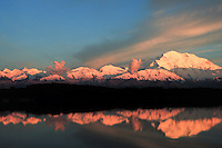 20, 3020+ ft. Mt. Denali  reflection pond, sunset, Denali National Park, Alaska