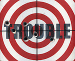 Shooting trouble on dartboard