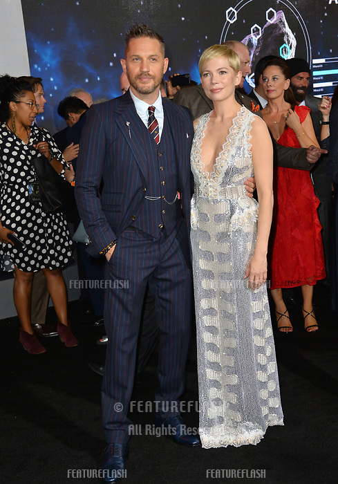 LOS ANGELES, CA. October 01, 2018: Tom Hardy &amp; Michelle Williams at the world premiere for &quot;Venom&quot; at the Regency Village Theatre.<br /> Picture: Paul Smith/Featureflash