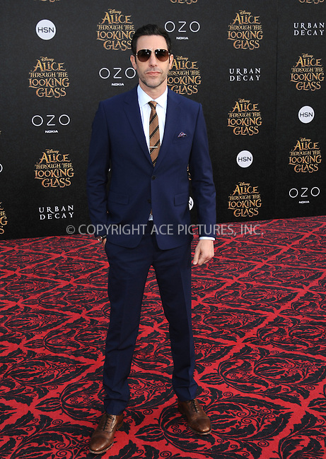 WWW.ACEPIXS.COM<br /> <br /> May 23 2016, LA<br /> <br /> Sacha Baron Cohen arriving at the premiere of Disney's 'Alice Through The Looking Glass' at the El Capitan Theatre on May 23, 2016 in Hollywood, California.<br /> <br /> <br /> By Line: Peter West/ACE Pictures<br /> <br /> <br /> ACE Pictures, Inc.<br /> tel: 646 769 0430<br /> Email: info@acepixs.com<br /> www.acepixs.com