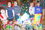 Children from Raheen Montessori playgroup helped collect toys for the 2FM Toy appeal this year. .L-R Sarah Griffin, John Scannell, Bobby Keane and Maura O'Sullivan.