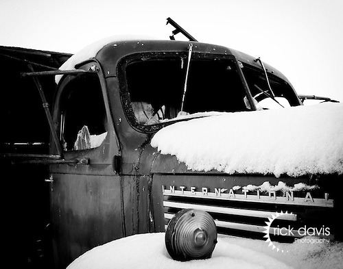 An old International farm truck, once the pride and joy of a thankful farmer, now sits out back in the field to succumb to a slow demise from the harsh elements of the high plains in Colorado.