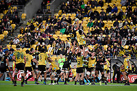 Super Rugby - Hurricanes v Chiefs at Westpac Stadium, Wellington, New Zealand on Friday 13 April 2018.<br /> Photo by Masanori Udagawa. <br /> www.photowellington.photoshelter.com