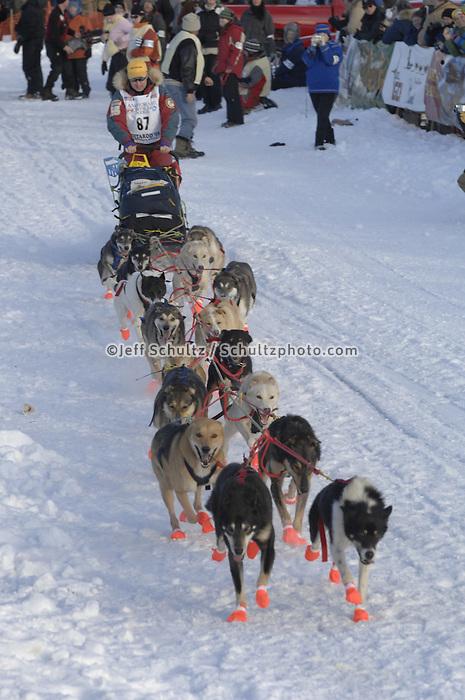 John Stetson Willow restart Iditarod 2008.
