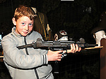 Eoghan Rooney pictured at the war exhibition at Funtasia Drogheda. Photo: Colin Bell/pressphotos.ie