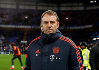25th February 2020; Stamford Bridge, London, England; UEFA Champions League Football, Chelsea versus Bayern Munich; Bayern Munich manager Hans-Dieter Flick looking at the Bayern Munich away fans from the touchline