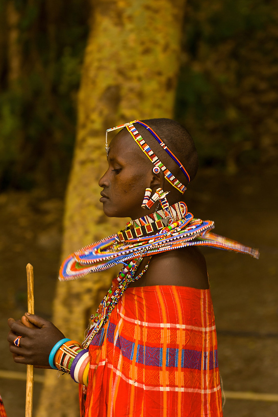 A Maasai woman, Amboseli National Park, Kenya