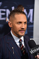 "LOS ANGELES, CA. October 01, 2018: Tom Hardy at the world premiere for ""Venom"" at the Regency Village Theatre.<br /> Picture: Paul Smith/Featureflash"