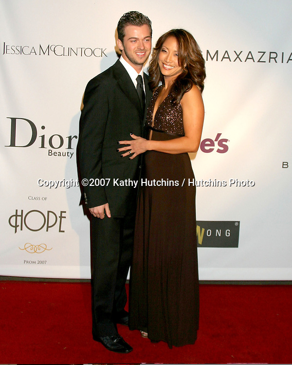 "Carrie Ann Inaba & Guest.""Class of Hope Prom 2007"" Charity Benefit.Sportsman's Lodge.Studio City, CA.April 19, 2007.©2007 Kathy Hutchins / Hutchins Photo...."
