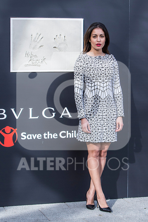 The ambassador of Bvlgari-Save the Children, Hiba Abouk, visits for the new center for children at risk of social exclusion of Save the Children in the district of Vallecas, in Madrid, financed by Bvlgari, January 03 2017. (ALTERPHOTOS/Rodrigo Jimenez)