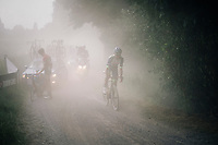 Jerome Baugnies (BEL/Wanty-Groupe Gobert) in dusty pursuit<br /> <br /> 3rd Dwars Door Het hageland 2018 (BEL)<br /> 1 day race:  Aarschot > Diest: 198km