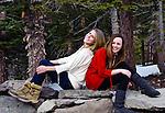 Girlfriends having fun outdoors