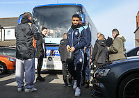 Alex Jakubiak of Wycombe Wanderers arrives for the Sky Bet League 2 match between Grimsby Town and Wycombe Wanderers at Blundell Park, Cleethorpes, England on 4 March 2017. Photo by Andy Rowland / PRiME Media Images.