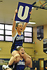 Amanda Budke of Centereach, top, performs during during an eight-team varsity cheerleading competition held at Bethpage High School on Sunday, Jan. 22, 2017.