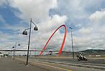 L'Arco Olimpico e la passerella che collega il Lingotto al Villaggio Olimpico. Marzo 2007...The Olympic Arch and the gangway that connect Lingotto and olympic village. March 2007...Ph. Marco Saroldi/Pho-to.it