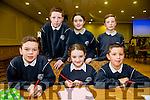 Can Mason, Molly Sheehy, Gearoid O Connor, back l-r Darragh O'Connor, Kate Dwyer, Eoghan Waters  from Spa Ns at the Credit Union Primary schools  Table Quiz in Brandon Hotel on Sunday