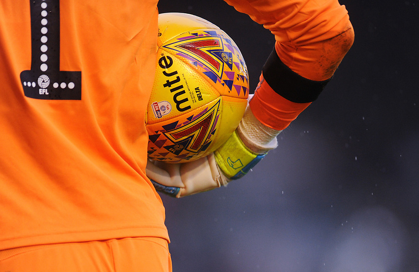 Plymouth Argyle's Matt Macey prepares to take a goalkick<br /> <br /> Photographer Kevin Barnes/CameraSport<br /> <br /> The EFL Sky Bet League One - Plymouth Argyle v Fleetwood Town - Saturday 24th November 2018 - Home Park - Plymouth<br /> <br /> World Copyright © 2018 CameraSport. All rights reserved. 43 Linden Ave. Countesthorpe. Leicester. England. LE8 5PG - Tel: +44 (0) 116 277 4147 - admin@camerasport.com - www.camerasport.com