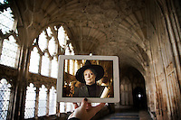Pictured: Filming of Harry Potter in Gloucester Cathedral with Maggie Smith<br />