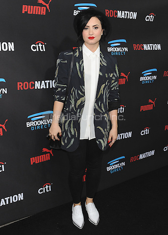 BEVERLY HILLS, CA - FEBRUARY 7:  Demi Lovato at the 5th Annual Roc Nation Pre-Grammy Brunch at Roc Nation offices on February 7, 2015 in Beverly Hills, California. SKPG/Mediapunch