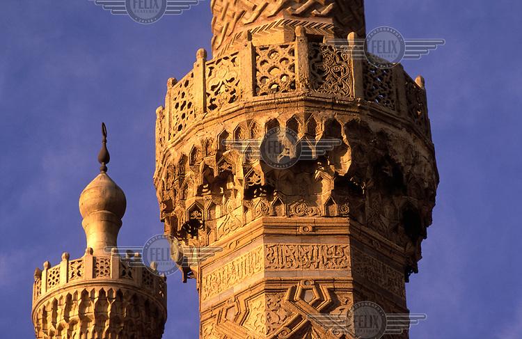 © Mark Henley / Panos Pictures..Cairo, EGYPT..The minaret of Al-Azhar mosque.