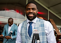 BALTIMORE, MD - MAY 20: Torrey Smith of the Philadelphia Eagles poses for a photo in The Under Armour Tent on Preakness Stakes Day at Pimlico Race Course on May 20, 2017 in Baltimore, Maryland.(Photo by Jesse Caris/Eclipse Sportswire/Getty Images)
