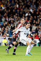 Real Madrid CF vs Athletic Club de Bilbao (5-1) at Santiago Bernabeu stadium. The picture shows Carlos Gurpegui and Mesut Ozil. November 17, 2012. (ALTERPHOTOS/Caro Marin) NortePhoto