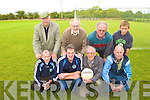 Firies GAA officials oversee the new training pitch in their club grounds front row l-r: Brendan O'Connor, Mike Leary, John O'Donoghue, Dermot O'Mahony. Back row: Sean Cronin, Jer Crowley, Tom Kelleher and Sean Burke.