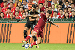 Liverpool FC midfielder Philippe Coutinho (R) fights for the ball with Leicester City FC midfielder Riyad Mahrez (L) during the Premier League Asia Trophy match between Liverpool FC and Leicester City FC at Hong Kong Stadium on 22 July 2017, in Hong Kong, China. Photo by Weixiang Lim / Power Sport Images
