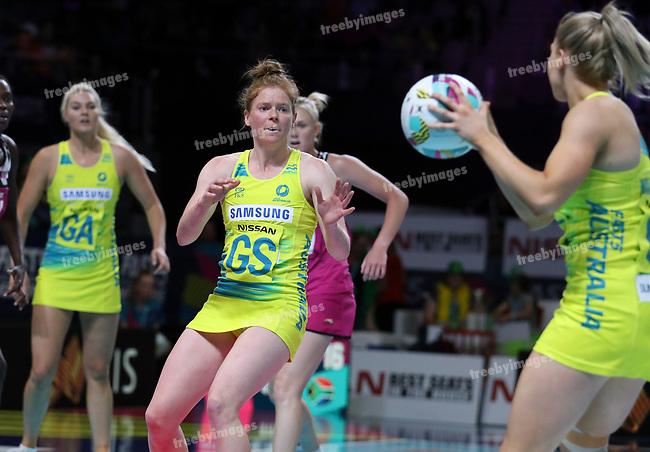29/10/17 Fast5 2017<br /> Fast 5 Netball World Series<br /> Hisense Arena Melbourne<br /> Australia v South Africa <br /> <br /> Tegan Philip<br /> <br /> <br /> <br /> <br /> Photo: Grant Treeby