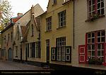 17th century Houses, Groeninge behind the Gruuthusemuseum, Bruges, Brugge, Belgium