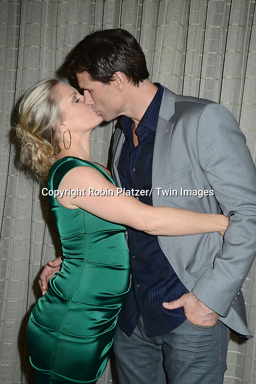 Terri Conn and husband Austin Peck attend the Marcia Tovsky Soap Stars Party on May 9, 2013 at NOIR, NYC  in New York City.