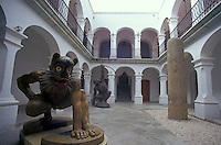 Sculptures in the courtyard of the Museum of Oaxacan Painters or Museo de los Pintores Oaxaquenos, Oaxaca city, Mexico
