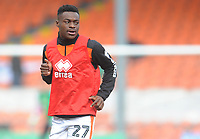 Blackpool's Marc Bola during the pre-match warm-up <br /> <br /> Photographer Kevin Barnes/CameraSport<br /> <br /> The EFL Sky Bet League One - Blackpool v Plymouth Argyle - Saturday 30th March 2019 - Bloomfield Road - Blackpool<br /> <br /> World Copyright © 2019 CameraSport. All rights reserved. 43 Linden Ave. Countesthorpe. Leicester. England. LE8 5PG - Tel: +44 (0) 116 277 4147 - admin@camerasport.com - www.camerasport.com