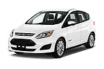2017 Ford C-Max SE-Hybrid 5 Door Mini MPV Angular Front stock photos of front three quarter view