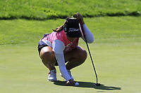 Mariajo Uribe (COL) on the 5th green during Friday's Round 2 of The Evian Championship 2018, held at the Evian Resort Golf Club, Evian-les-Bains, France. 14th September 2018.<br /> Picture: Eoin Clarke | Golffile<br /> <br /> <br /> All photos usage must carry mandatory copyright credit (&copy; Golffile | Eoin Clarke)