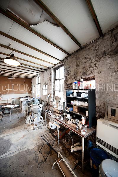 The studio of handmade paper maker Pascal Jeanjean in Braine-le-Comte (Belgium, 03/07/2015)