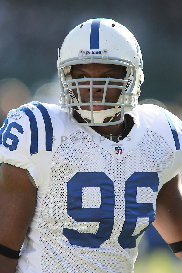 KEYUNTA DAWSON, of the Indianapolis Colts in action durIng the Colts game against the Oakland Raiders at Oakland-Alameda County Coliseum in Oakland, California on December 26, 2010...Colts beat the Raiders 31-26