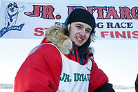 Colby Spears portrait after the finish of the 2018 Junior Iditarod in Willow, Alaska. Sunday February 25, 2018<br /> <br /> Photo by Jeff Schultz/SchultzPhoto.com  (C) 2018  ALL RIGHTS RESERVED