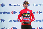 Primoz Roglic (SLO) Team Jumbo-Visma retains the race leaders Red Jersey at the end of Stage 11 of La Vuelta 2019 running 180km from Saint Palais, France to Urdax-Dantxarinea, Spain. 4th September 2019.<br /> Picture: Luis Angel Gomez/Photogomezsport | Cyclefile<br /> <br /> All photos usage must carry mandatory copyright credit (© Cyclefile | Luis Angel Gomez/Photogomezsport)
