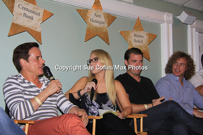 Christian LeBlanc, Kristen Alderson, Jeff Branson and Frank Eudy (Big Brother 14) at SoapFest's Celebrity Weekend -  A Night of Stars - a VIP event with dinner, autographs, photos, silent and live auction on November 10, 2012 at Bistro Soleil at Old Historic Marco Inn (Photo by Sue Coflin/Max Photos)
