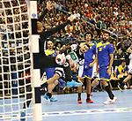 12.01.2019, Mercedes Benz Arena, Berlin, GER, Germany vs. Brazil, im Bild <br /> Jannik Kohlbacher (GER #48), Leonardo Tercariol (BRA #62), Petrus Santos (BRA #14), Thiago Ponciano (BRA #35)<br />      <br /> Foto &copy; nordphoto / Engler