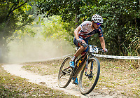 Picture by Alex Broadway/SWpix.com - 08/09/17 - Cycling - UCI 2017 Mountain Bike World Championships - XCO - Cairns, Australia - Frazer Clacherty of Great Britain competes in the Men's Under 23 World Championship Race.